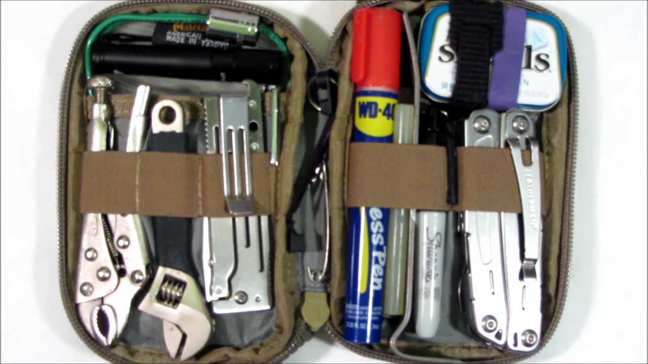 (VIDEO) Mini-Pocket Organizer Tool Kit for Hiking